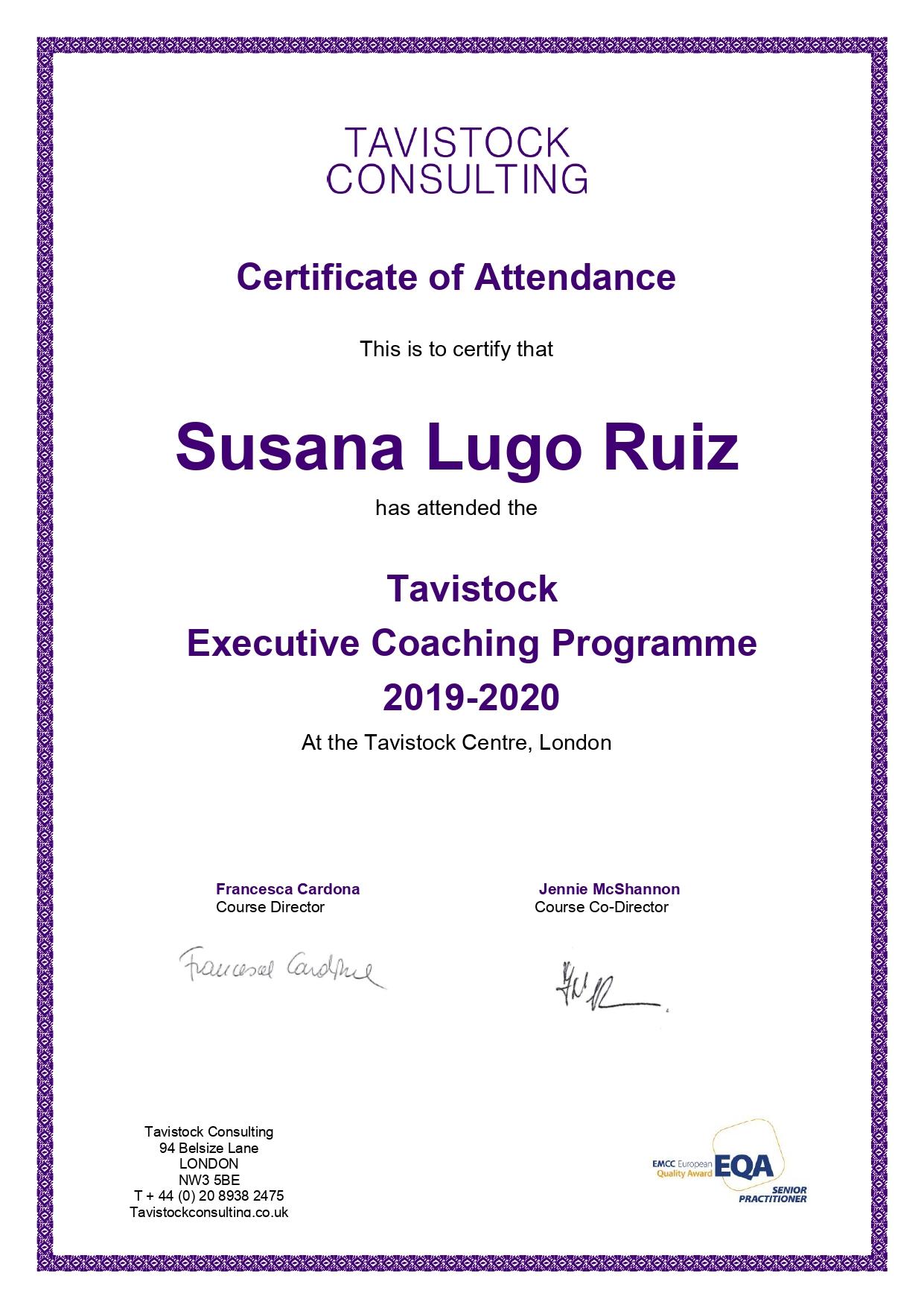 Coach Madrid certificada